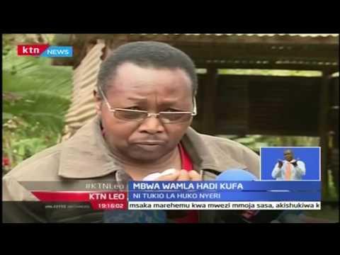 KTN Leo :Mbwa wamla mwanamme mkongwe Nyeri hadi akafa, 27/9/2016