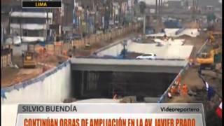 Continúan obras de ampliación de la Av. Javier Prado