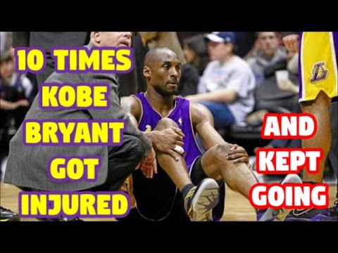 10 Times Kobe Bryant was Injured but REFUSED to Quit    Part 1 of 2   