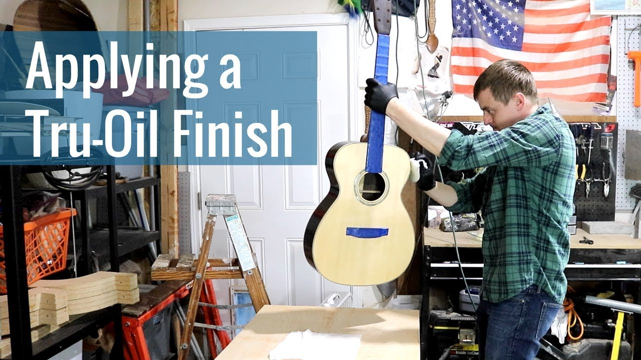 Applying a Tru-Oil Finish (Ep 23 – Acoustic Guitar Build)
