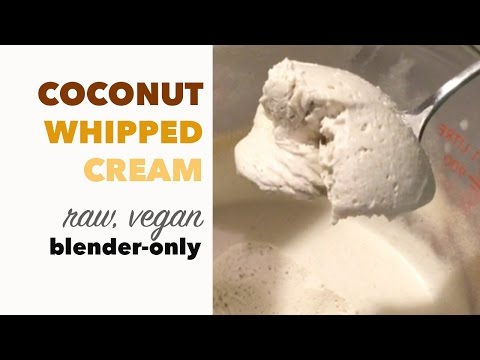 How To Make Whipped Cream With Coconut | Creamy Dairy Free Version NOT From A Can