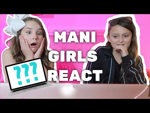 REACTING TO MY VLOGS w/MANI girls | Piper Rockelle (видео)