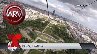 Instalan una tirolina en la Torre Eiffel   Al Rojo Vivo   Telemundo