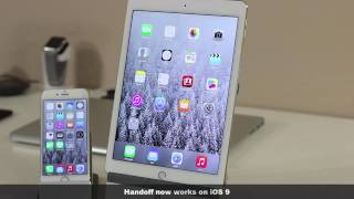 iOS 9 Beta 2 running on an iPad Air 2 and iPhone 6, ios 9, ios, iphone, ios 9 ra mat