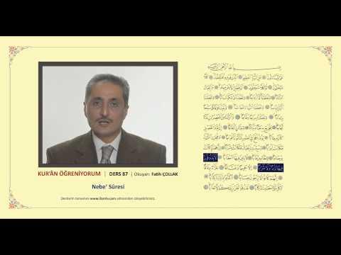 Kuran Öğreniyorum 87 -  Nebe' Suresi (Fatih Çollak)