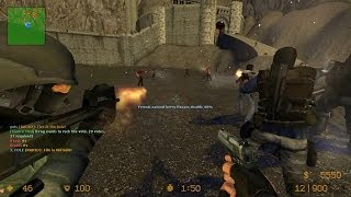 Counter Strike Source Zombie Escape mod online gameplay on ze_LOTR_Helms_Deep_v5 map