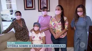 Família realiza carreata para comemorar cura do câncer