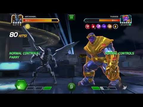 Uncollected Infinity Nightmare, 4* Archangel Deals 98% Damage To Thanos #1
