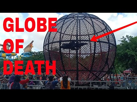 Atraksi Globe Of Death Di Atlantis Land Surabaya