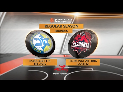 EuroLeague Highlights RS Round 22: Maccabi FOX Tel Aviv 85-84 Baskonia Vitoria Gasteiz