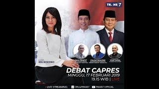 Video Live Streaming Debat Capres Minggu 17 Februari 2019 MP3, 3GP, MP4, WEBM, AVI, FLV Februari 2019