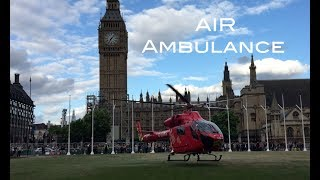LONDON'S Air Ambulance made an accurate precise landing on Parliament Square outside the Palace of Westminster today. No serious incidents ! It was a part of the training program. Helicopter stayed there for couple minutes then took off again.  This video was filmed with iPhone 6 on OSMO MOBILE + FILMIC Pro appThis video is the copyright of Topfelya © All illegal reuploads will be removed