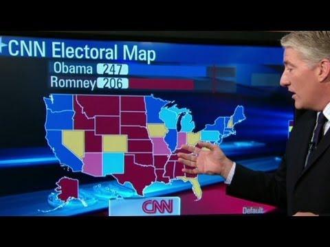 Electoral map shows slight Obama lead