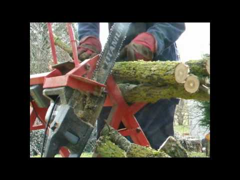 Homemade firewood saw