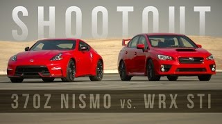 Shootout: Nissan 370Z Nismo vs. Subaru WRX STI are red-hot track toys by Roadshow