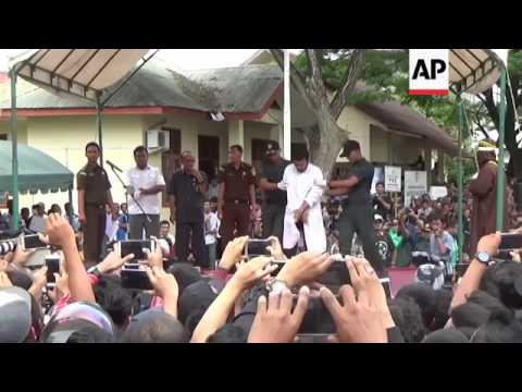 Gay Couple Publicly Caned in Indonesia