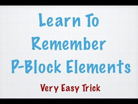 Video How to remember p-block elements easily || chemistry tutor download in MP3, 3GP, MP4, WEBM, AVI, FLV January 2017