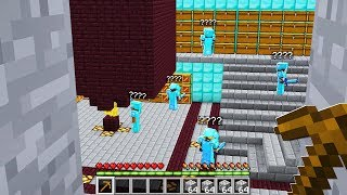 we stormed a underground Minecraft factions HQ Base.. they were not expecting it