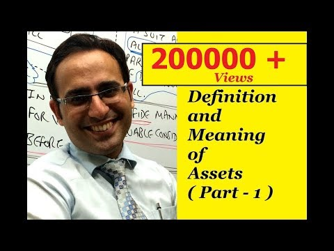 Basic Accounting Terms (Video-1) What Are Assets? (Part-1)