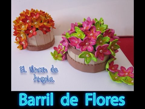 how to make a flower pot with foamy - tutorial