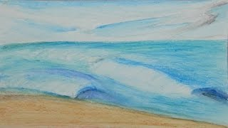 How I Art: Using Watercolor Pencils / Create Beach Scenes