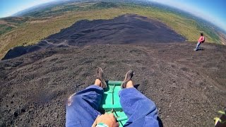 We drove out to an active Volcano called Cerro Negro about an hour from Leon in Nicaragua. It was roughly a 2 hour hike to the top of this extremely windy an...