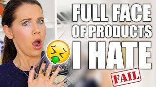 FULL FACE WITH HATE PRODUCTS ... FAIL by Glam Life Guru