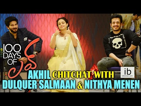 Akhil Chitchat with Dulquer Salmaan & Nithya Menen for 100 Days of love