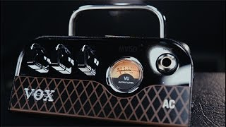 Shop now at http://www.guitarcenter.com/Vox/MV50-50W-AC-Guitar-Amp-Head.gc?source=4GOA4LOBADesigned with an emphasis on analog, VOX's MV50 combines classic amplifier design with new and innovative production techniques to produce a miniature amplifier with truly monstrous sound. Boasting an incredible 50 watts of power, this one-pound package serves up serious guitar tone that's reminiscent of your favorite old tube amps. With speaker and line/headphone outputs, the MV50 is perfect for the stage, at home, or in the studio for direct recording.