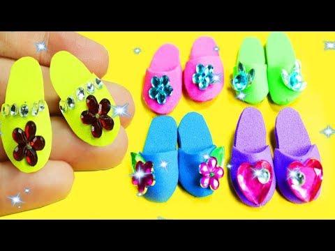 DIY Miniature Doll Shoes - For Barbie, Disney Princesses and Monster High   - simplekidscrafts