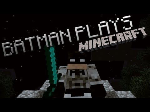 Batman Plays Minecraft