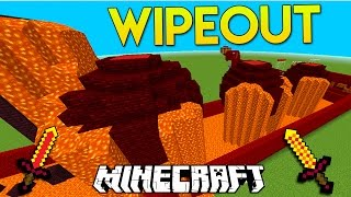 Minecraft LAVA 1v1 TOTAL WIPEOUT PARKOUR RACE!