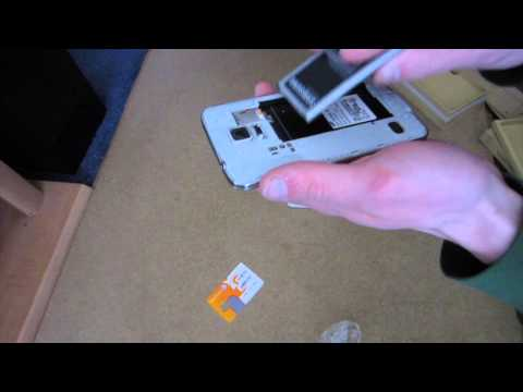 Samsung Galaxy S5 - 16GB Shimmery White - (AT&T) - Unboxing