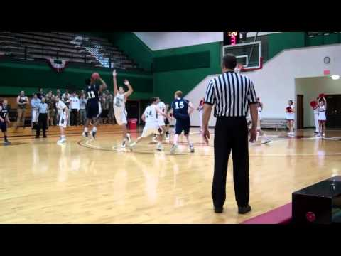 Gabriel Moton '14 hits the game-winning 3-pointer at WashU