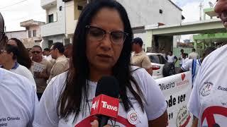 Santo Estêvão: Caminhada de Conscientização de Combate ao mosquito aedes aegypti