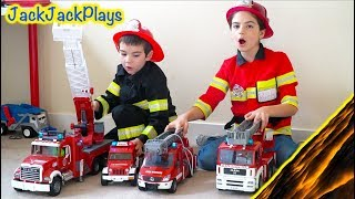 Video Costume Pretend Play Firefighters, Fishing, Police - Playing Floor is Lava MP3, 3GP, MP4, WEBM, AVI, FLV Maret 2018