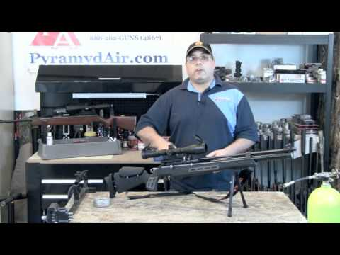 .25 cal airgun - http://www.pyramydair.com/s/m/Hatsan_BT65SB_PCP_Air_Rifle_Black/2780?utm_source=yt-re&utm_medium=v&utm_campaign=re-BT65 The Hatsan BT65 is extremely impressi...