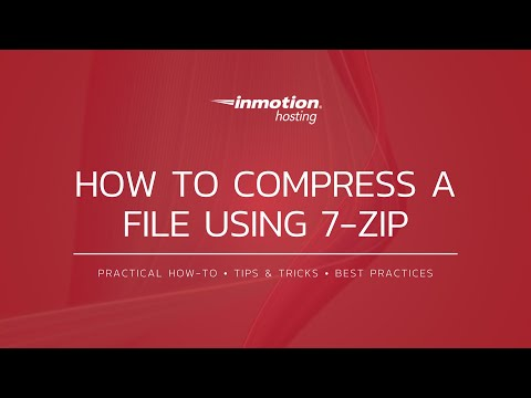 How to compress files using 7zip