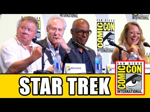 STAR TREK 50th Anniversary Comic Con Panel (Part 1) - William Shatner, Jeri Ryan