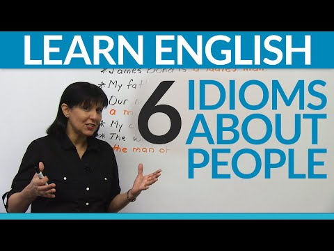 English - http://www.engvid.com/ Help to change our sexist langauge by learning 6 common idioms about people. Are you a ladies' man? A woman of your word? A man of the people? Learn the meanings of these...