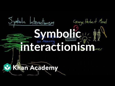 Symbolic Interactionism Video Khan Academy