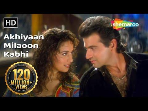 Download Akhiyaan Milaoon Kabhi | Raja Songs | Madhuri Dixit | Sanjay Kapoor | Udit Narayan | Alka Yagnik HD Mp4 3GP Video and MP3