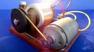 Free energy 100% - Self Running Machine with DC motor Generator - Easy DIY project at School