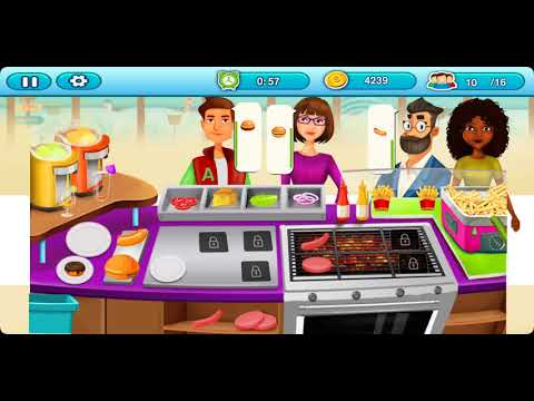 Food Court Cooking Game: Fast Food Mall Fever || Baby Games Garden