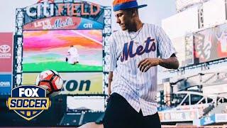 Neymar is not very good at swinging a baseball bat by FOX Soccer