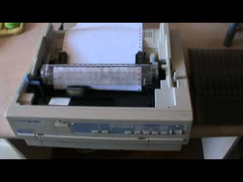 how to print test page on epson lq-2180
