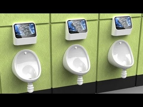 NMATV - The Exhibit Bar in London installed some video games in the mens' restroom, where your urine stream is your controller. A sensor in the urinal senses you app...