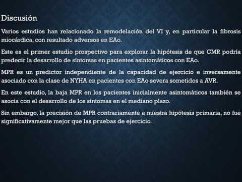 Comparación entre la PEG y la RMN en la estenosis aórtica asintomática. Residencia de Cardiología. Hospital C. Argerich. Buenos Aires