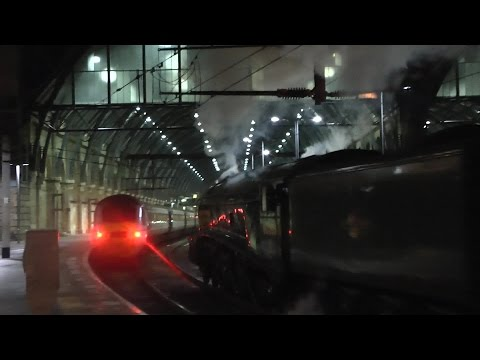LNER '60009 Union of South Africa' entering London Kings ...