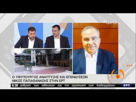 Ο Υφυπουργός Ανάπτυξης και Επενδύσεων Ν.Παπαθανάσης στην ΕΡΤ | 08/05/2020 | ΕΡΤ